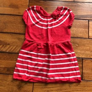 Gymboree red and white sweater dress size 4